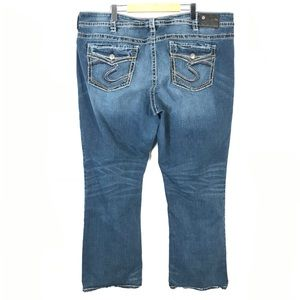 Silver suki mid slim boot jeans flap pocket